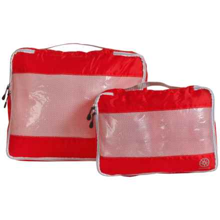 Lewis N Clark UltraLite Packing Cubes - 2-Pack in Cherry - Closeouts