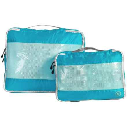 Lewis N Clark UltraLite Packing Cubes - 2-Pack in Electric Blue - Closeouts