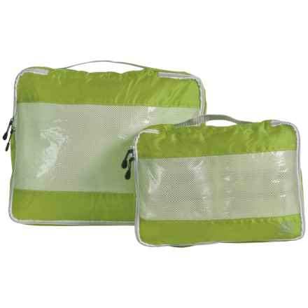 Lewis N Clark UltraLite Packing Cubes - 2-Pack in Green - Closeouts