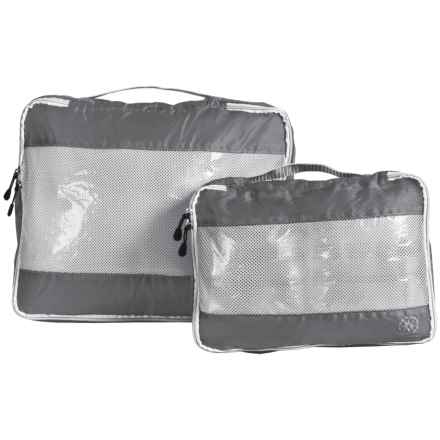 Lewis N Clark UltraLite Packing Cubes - 2-Pack in Grey - Closeouts