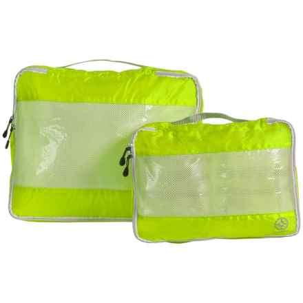 Lewis N Clark UltraLite Packing Cubes - 2-Pack in Neon Yellow - Closeouts
