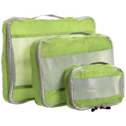 Lewis N Clark Uncharted Ultralite Packing Cubes - 3-Pack in Green - Closeouts
