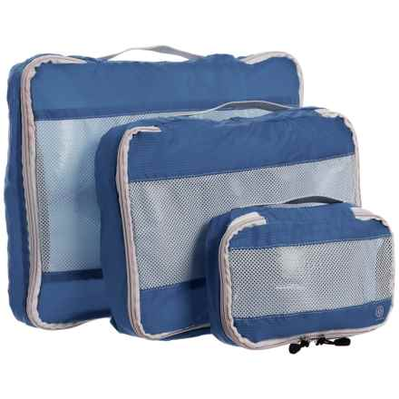 Lewis N Clark Uncharted Ultralite Packing Cubes - 3-Pack in Navy - Closeouts