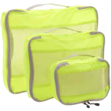 Lewis N Clark Uncharted Ultralite Packing Cubes - 3-Pack in Neon Yellow - Closeouts