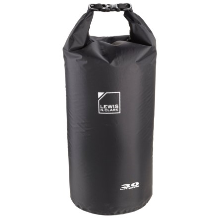 aa82f790d4d Lewis N Clark Waterseals 30L Dry Bag in Black - Closeouts