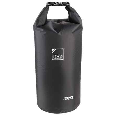 Lewis N Clark Waterseals 30L Dry Bag in Black - Closeouts