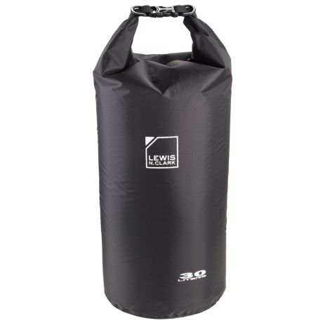 Lewis N Clark Waterseals 30L Dry Bag in Black