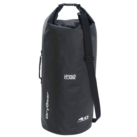 Lewis N Clark Waterseals 40L Dry Bag in Black