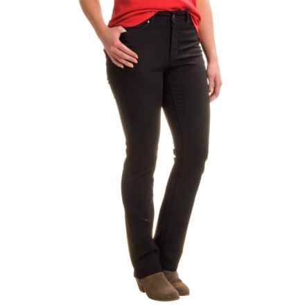 Lexington Lightweight Straight-Leg Jeans - Cotton-Rayon Blend (For Women) in Black - 2nds