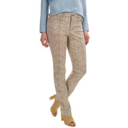 Lexington Straight Leg Jeans (For Women) in Tan Snake Print - 2nds