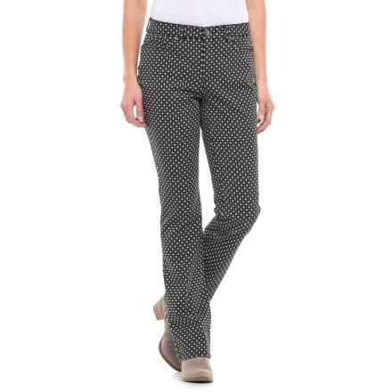 Lexington Stretch-Twill Pants - Straight Leg (For Women) in Black/White Print - 2nds