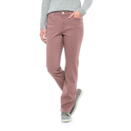 Lexington Stretch-Twill Pants - Straight Leg (For Women) in Mauve