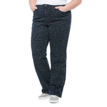 Lexington Stretch-Twill Pants - Straight Leg (For Women) in Navy/Stars - 2nds
