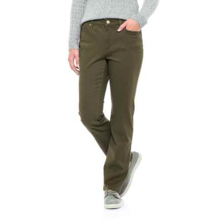 Lexington Stretch-Twill Pants - Straight Leg (For Women) in Olive - 2nds