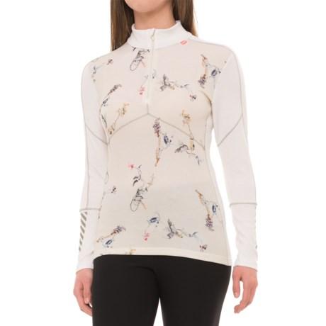 Image of LIFA(R) Merino Base Layer Top - Merino Wool, Zip Neck, Long Sleeve (For Women)