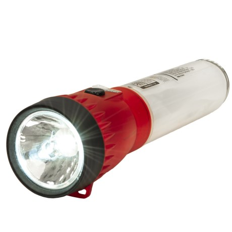 Life Gear AT Tech 2-in-1 LED Flashlight/Lantern - 40 Lumens in Red