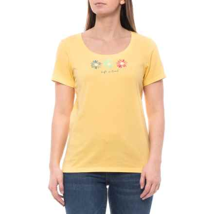 fae5878ed Life is good® 3 Happy Daisies Crusher T-Shirt - Scoop Neck, Short