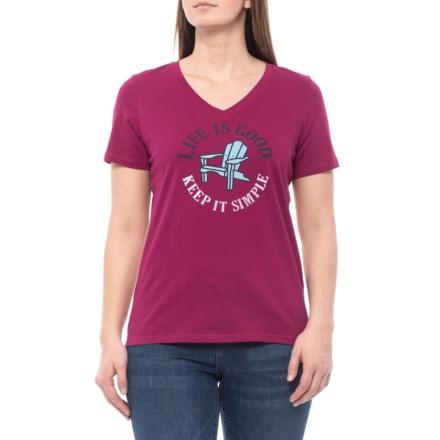Life is good® Adirondack T-Shirt - Short Sleeve (For Women) in aaf4eaa73