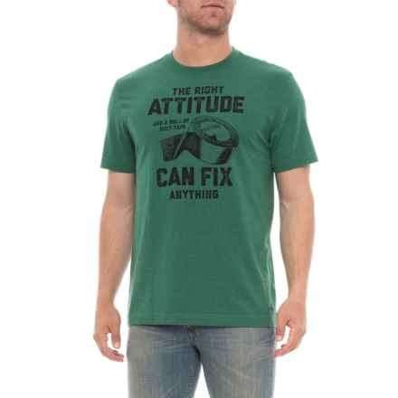 Life is good® Attitude Fix Crusher T-Shirt - Short Sleeve (For Men) in Heather Forest Green - Closeouts