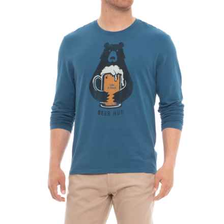 Life is good® Bear Hug Smooth T-Shirt - Long Sleeve (For Men) in Vintage Blue - Closeouts