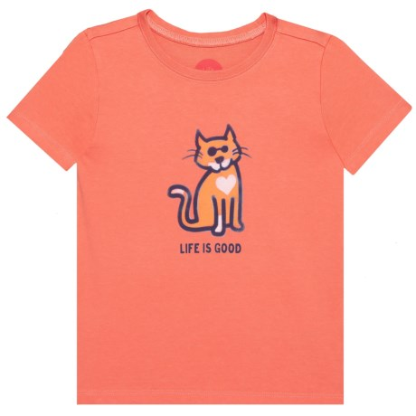 724430c1c12a71 Life is good® Cat Love Crusher T-Shirt - Short Sleeve (For Toddlers