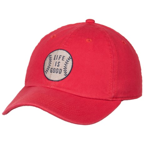 Life is good® Chill Baseball Cap (For Kids) in Americana Red
