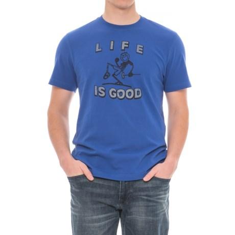 Life is good® Crush T&T Pump Putt T-Shirt - Short Sleeve (For Men) in Cobalt Blue