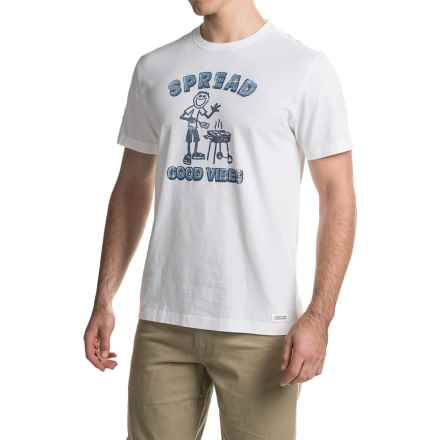 Life is good® Crusher™ Crew T-Shirt - Short Sleeve (For Men) in Cloud White/Vibes - Closeouts