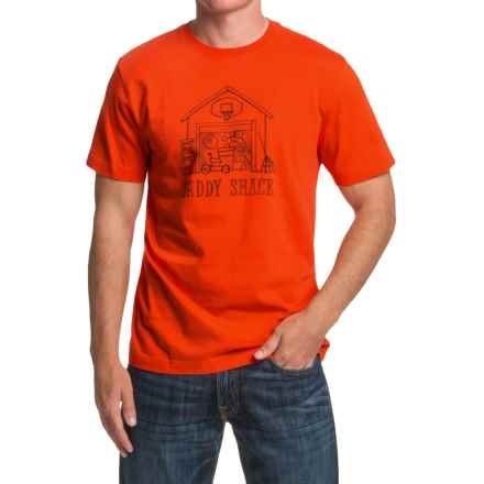 Life is good® Crusher™ T-Shirt - Short Sleeve (For Men) in Flame Orange Watercolor Daddyshack - Closeouts