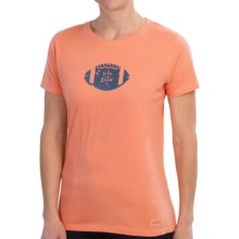 Life is good® Crusher™ T-Shirt - Short Sleeve (For Women) in Sunkiss Orange Vintage Football - Closeouts