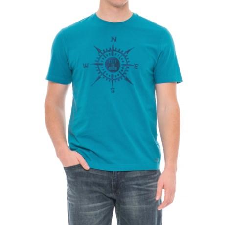 Life is good® Crusher Compass T-Shirt - Short Sleeve (For Men) in Denim Blue