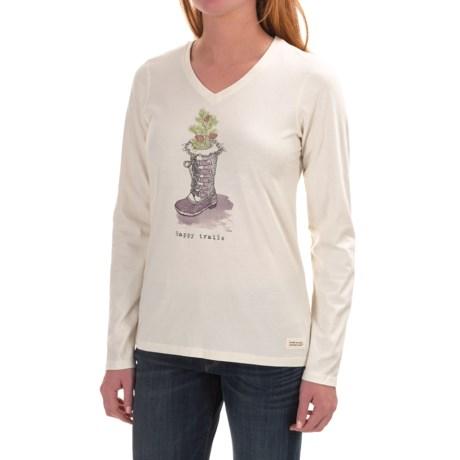 Life is good® Crusher V-Neck T-Shirt - Long Sleeve (For Women)