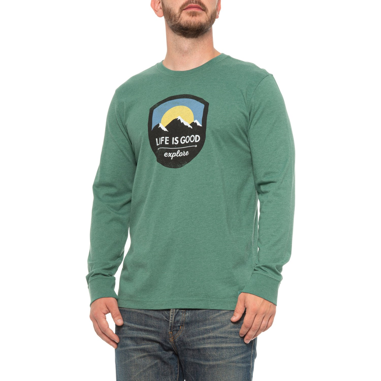 Life is good® Explore Mountains Crusher T-Shirt (For Men