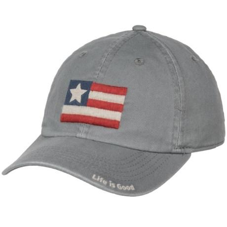 Life is good® Flag Chill Baseball Cap (For Kids) in Slate Gray
