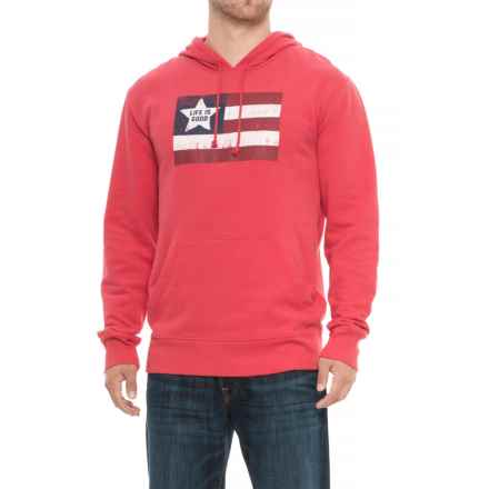 Life is good® Flag Go-To Pullover Hoodie (For Men) in Americana Red - Closeouts