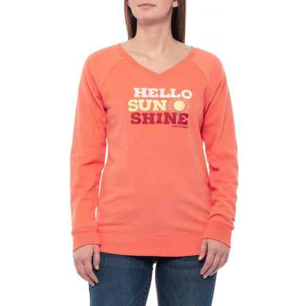 e7c90ef3d0a9 Life is good® Fresh Coral Hello Sunshine Go-To Sweatshirt (For Women)
