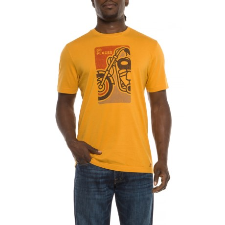 Life is good® Go Places Motorcycle T-Shirt - Short Sleeve (For Men) in Artisan Gold
