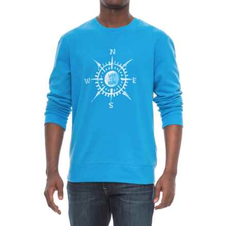 Life is good® Go-To Compass T-Shirt - Cotton Blend, Crew Neck, Long Sleeve (For Men) in Marina Blue - Closeouts