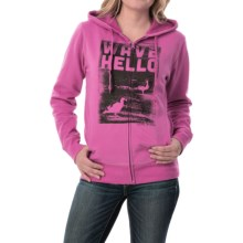 Life is good® Go-To Hoodie - Zip Front (For Women) in Hot Fuchsia Beach Bird Photo - Closeouts