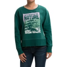 Life is good® Go-To Pullover Sweatshirt (For Women) in Heather Green Nature Photo - Closeouts