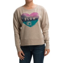 Life is good® Go-To Pullover Sweatshirt (For Women) in Heather Latte Take It Slow - Closeouts