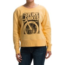 Life is good® Go-To Pullover Sweatshirt (For Women) in Sun Gold Bike Photo Square - Closeouts