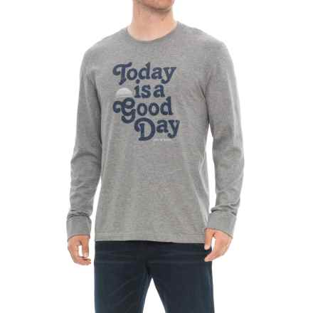 Life is good® Good Day Sun Crusher T-Shirt - Long Sleeve (For Men) in Heather Gray - Closeouts