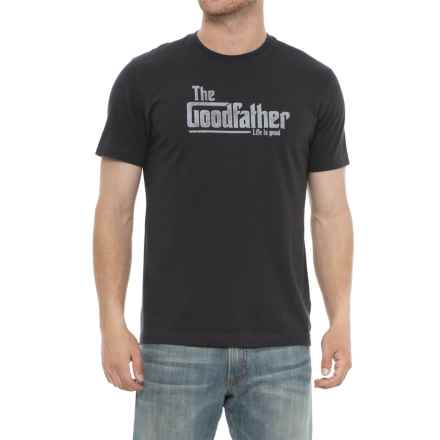 Life is good® Goodfather Crusher T-Shirt - Short Sleeve (For Men) in Night Black - Closeouts