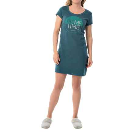 Life is good® Graphic Sleep Shirt - Short Sleeve (For Women) in Pacific Blue Prime Time Circle - Closeouts