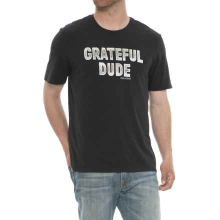 Life is good® Grateful Dude T-Shirt - Crew Neck, Short Sleeve (For Men) in Night Black - Closeouts
