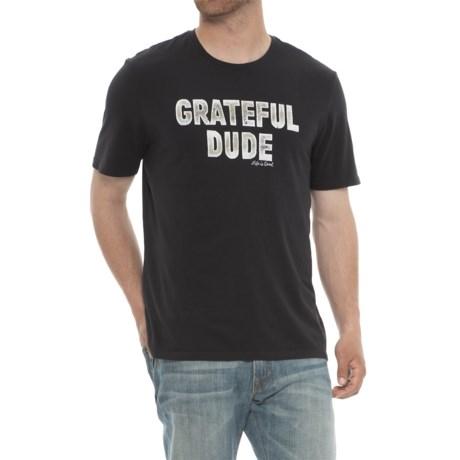 Life is good® Grateful Dude T-Shirt - Crew Neck, Short Sleeve (For Men) in Night Black
