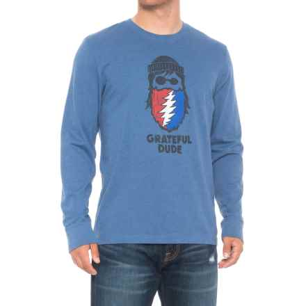 Life is good® Greatful Beard Crusher Shirt - Long Sleeve (For Men) in Heather Vintage Blue - Closeouts