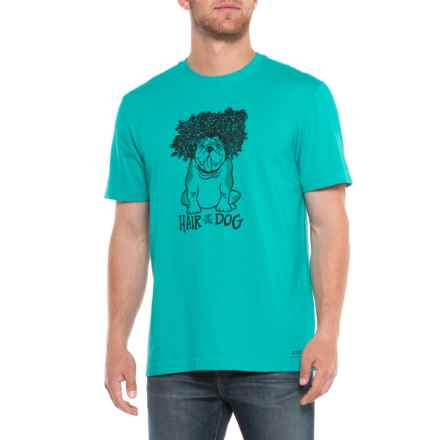 Life is good® Hair of the Dog Crusher T-Shirt - Short Sleeve (For Men) in Bright Teal - Closeouts