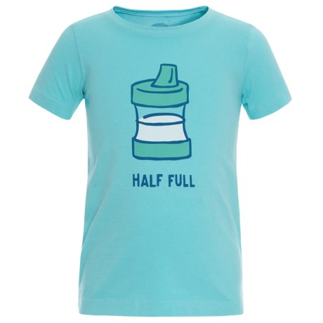Life is good® Half Full Sippy Crusher T-Shirt - Short Sleeve (For Toddlers) in Fresh Blue